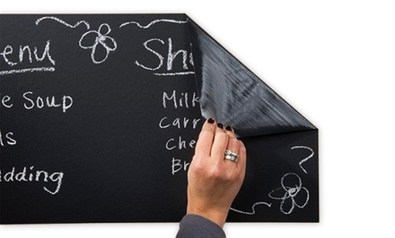 Jade and Juliet Chalkboard Wall Sticker with 5-Piece Chalk Set