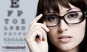 Milleocchiali: Visita oculistica e buono sconto di 250 € per occhiali da vista in 12 negozi Milleocchiali (sconto fino a 94%)