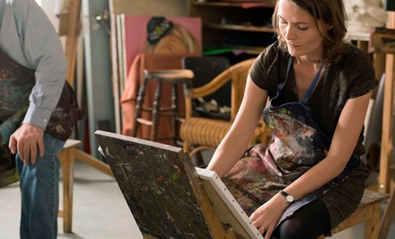 Three-Hour Painting Class for One or Two from Brushes and Brews (45% Off)