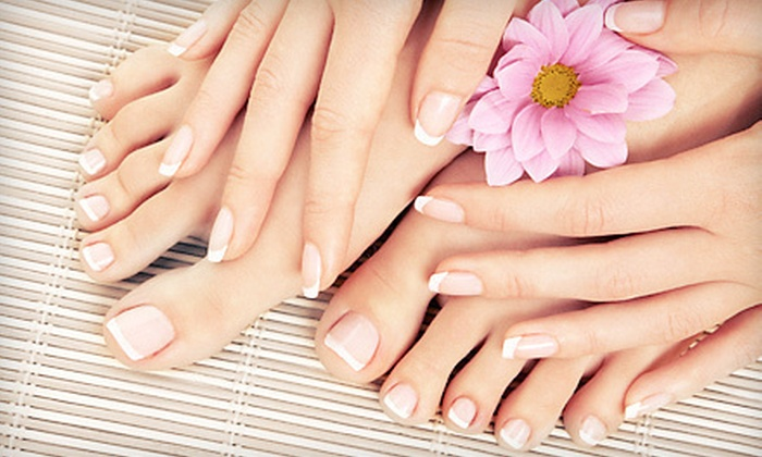 Studio Fit Day Spa - Fifth Ward: $39 for a Shellac Manicure and Essential Pedicure at Studio Fit Day Spa ($80 Value)
