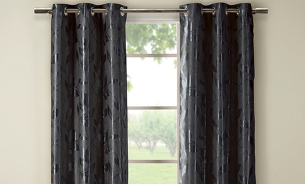 Metallic Heavyweight Blackout Curtain Pair
