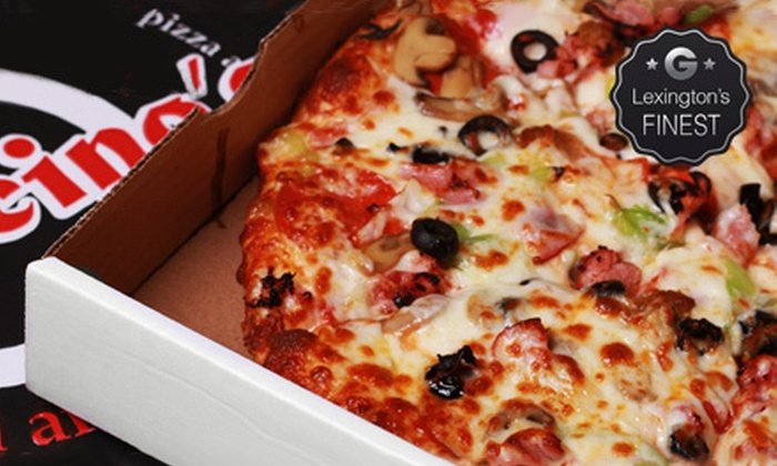 Mancinos Pizza & Grinders - Lexington-Fayette: Pizza, Subs, and Wings at Mancinos Pizza & Grinders (Half Off). Two Options Available.