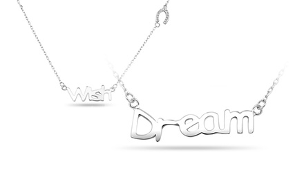 Sterling Silver Inspirational Necklace. Multiple Designs Available.