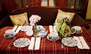 Tal-y-Tara Tea & Polo Shoppe: English Tea Service for Two at Tal-y-Tara Tea & Polo Shoppe (Up to 34% Off). Three Options Available.