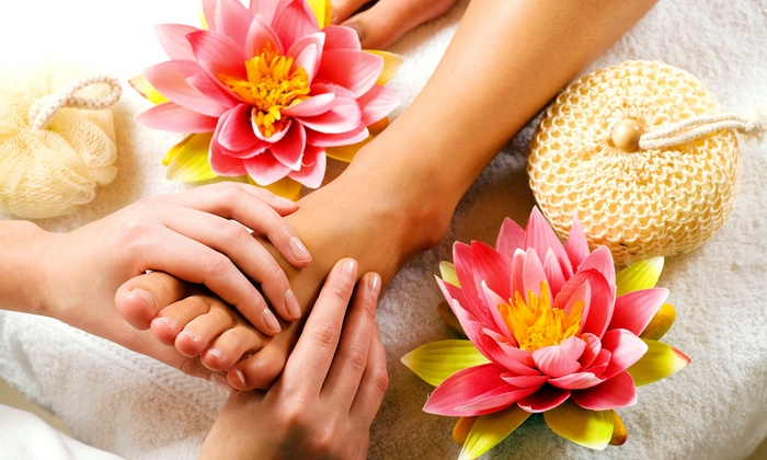 True Grace Spa & Nail - New Canaan: Reflexology Massage with a Gel Soak, Pedicure, or Pedicure and a Body Massage at True Grace Spa & Nail (Up to 71% Off)
