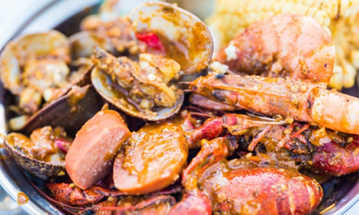 Cajun Islands - Westminster: Two Pounds of Gulf Shrimp, Clams with Basil, Mussels, or Louisiana Crawfish Per Person at Cajun Islands (40% Off)