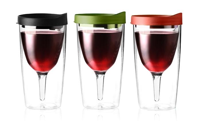 ddf5c76d0d4 Vino-2-Go Portable Wine Glasses   Groupon Goods