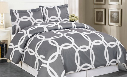 groupon daily deal - Redington Hotel 3-Piece Duvet-Cover Set. Multiple options available. Free Returns.
