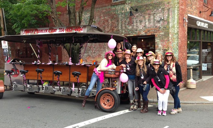 Party Pedaler - Villa Heights: Two- or Three-Hour Party-Bike Bar Crawl for Up to 4,8, or 14 from Party Pedaler (45% Off)