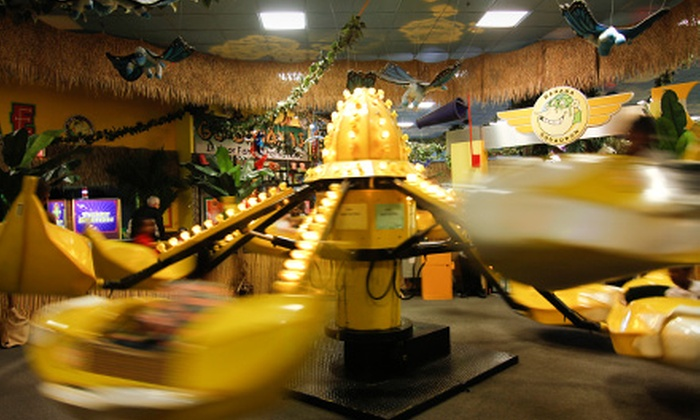 Go Bananas - Norridge: Indoor Amusement-Center Visit for One, Two, or Four with Tokens, Pizza, and Drinks at Go Bananas (Up to 55% Off)
