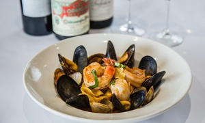 La Fontaine Restaurant: French-Italian Lunch or Dinner at La Fontaine Restaurant (Up to 43% Off)