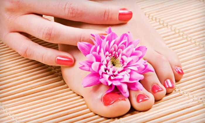 D'Onyx Day Spa - Hamilton: One or Three Gel Spa Mani-Pedis from Asia Bradford at D'Onyx Day Spa in Hamilton (Up to 70% Off)