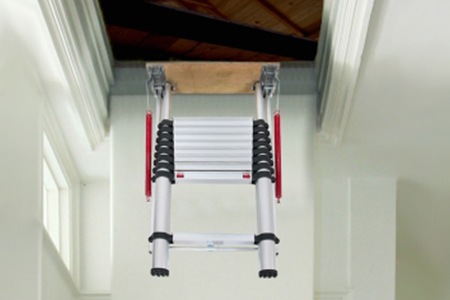 Telescopic Loft Ladder Groupon Goods
