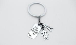 First Impression Artwork: Silver Engraved Key Chain with Up to Three Dongles from First Impression Artwork (Up to 36% Off)
