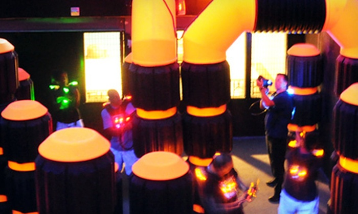 XP Laser Sport - Multiple Locations: Two Games of Laser Tag for Two or Four at XP Laser Sport (Up to 58% Off)
