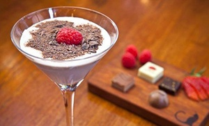 AYZA Wine & Chocolate Bar : Date-Night Packages with Small Plates & Dessert Martinis at AYZA Wine & Chocolate Bar (Up to 56% Off)
