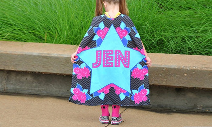 One or Two Custom Superhero Capes from Swirl Designs (Up to 28% Off)
