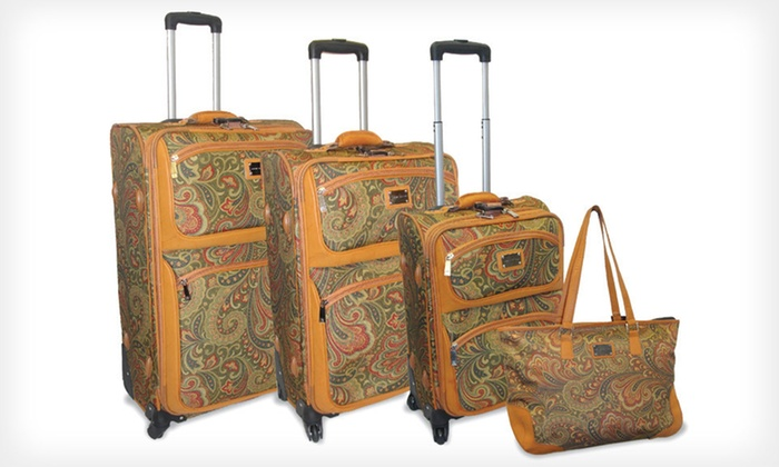 Adrienne Vittadini 4-Piece Luggage Set: $260 for an Adrienne Vittadini Luggage Set ($1,320 List Price). Two Options Available. Free Shipping and Free Returns.