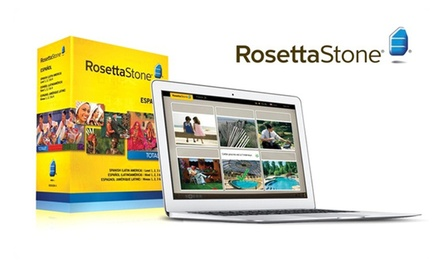 groupon daily deal - Rosetta Stone English, French, Italian, or Spanish Level 1–4 Set