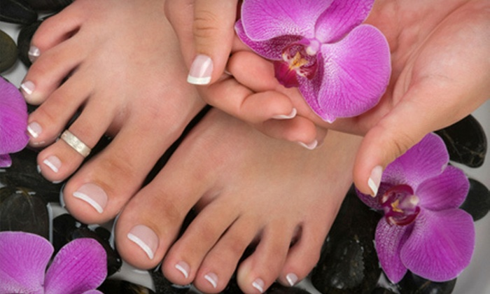 Posh Nails and Spa - Buckhead Village: Hot-Stone Pedicure with a Royal Manicure or European Facial at Posh Nails and Spa (Up to 53% Off)
