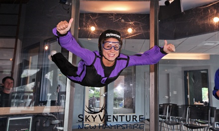 Four-Minute Indoor Skydiving Experience or FishPipe Ride at Skyventure New Hampshire (Up to 40% Off)