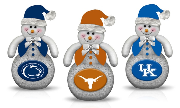 NCAA Tabletop Snowman: NCAA Tabletop Snowman. Multiple Designs Available. Free Returns.
