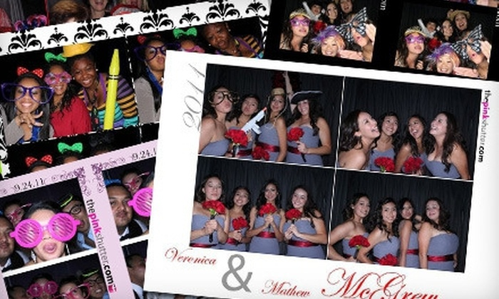 Pink Shutter Photobooths - San Diego: Photo-Booth-Rental Packages from Pink Shutter Photobooths (Up to 53% Off). Three Options Available.