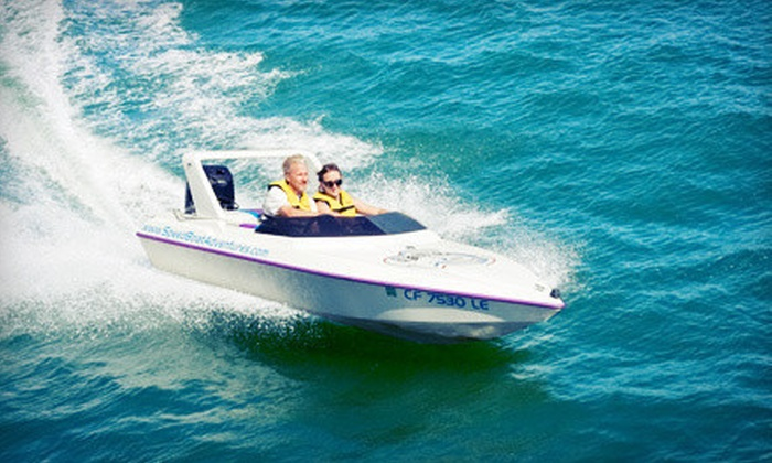 Tampa Speed Boat Adventures - Tierra Verde: $64 for a Two-Hour Speedboat Adventure Tour for Two from Tampa Speed Boat Adventures ($129.80 Value)