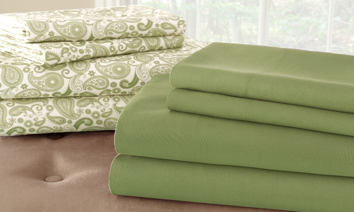2 Haight Ashbury Collection Coordinated Sheet Sets: 2 Haight Ashbury Collection Sheet Sets in Paisley and Solid (Up to 81% Off). Multiple Colors. Free Shipping and Returns.