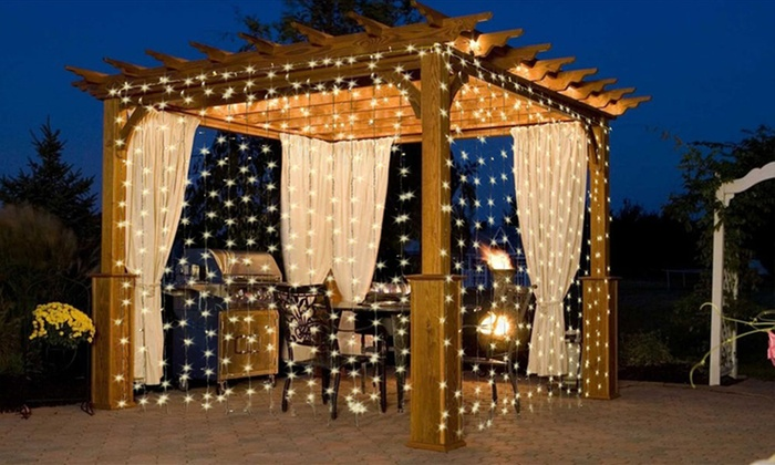 Curtains Ideas curtain lighting : 63% Off on 300-LED String Curtain Light | Groupon Goods