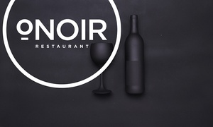 O Noir: Gourmet Dinner with Cocktails and Tea in the Dark for Two or Four at O.Noir Restaurant (43% Off)