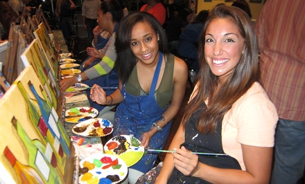 Two- or Three-Hour Painting Class at Pinot's Palette (Up to 44% Off)