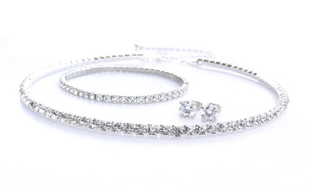 Swarovski Elements 3-Piece Classic Jewelry Set