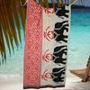 "Set of Two Zanzibar 30""x60"" Animal-Print Beach Towels"