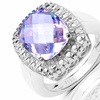 $15.99 for a Cushion-Cut Sterling Silver Gemstone Ring