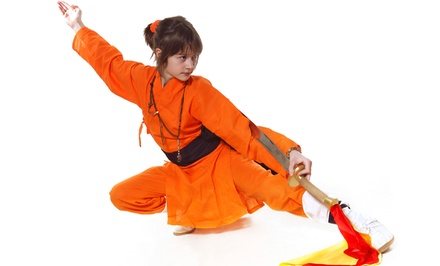 5 or 10 Shaolin Kung-Fu Classes, or One Month of Classes at Shaolin Temple Overseas Headquarters (Up to 78% Off)