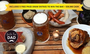 Das Hund Haus: $24.99 Das Hund Haus 2-for-1 Meal Voucher with 5 Free Prize Draw Entries to Win the Das Hund Haus Bar Plus $30,000 Cash