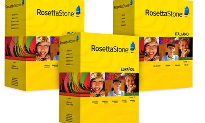 Groupon Goods Global GmbH: Rosetta Stone Language Software from £59.99 With Free Delivery (Up to 66% Off)