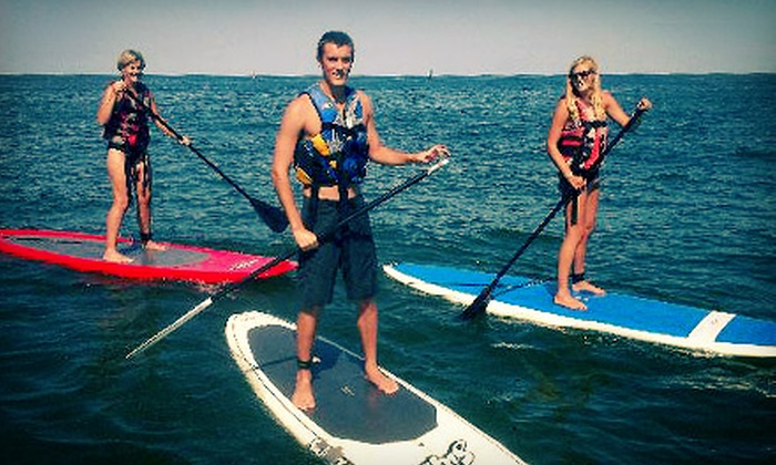 Rudee Inlet Stand Up Paddle - Virginia Beach: $39 for a 2-Hour Standup-Paddleboarding Lesson and Ocean Dolphin Tour from Rudee Inlet Stand Up Paddle ($80 Value)