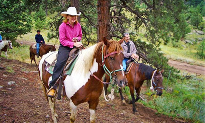 Sombrero Ranches - Estes Park: One- or Two-Hour Guided Trail Ride for Two or Four at Sombrero Ranches (Up to 55% Off)