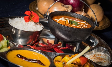 Two-Course Indian Fusion Meal with Wine for Two or Four at Yukti Indian Street Fusion (Up to 46% Off)