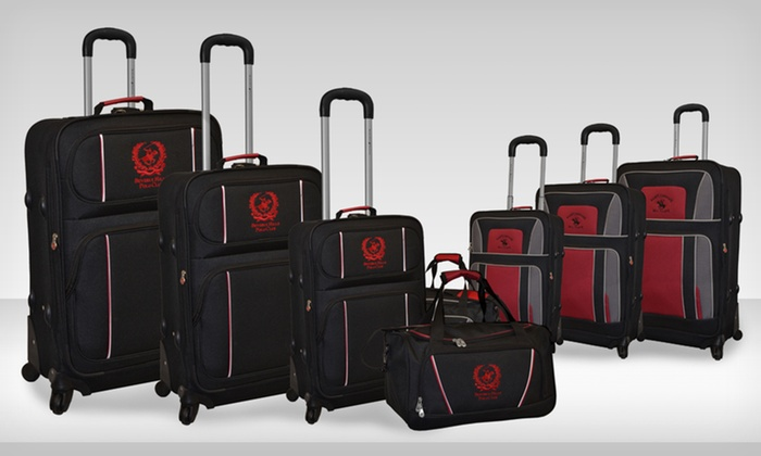 199.99 for a Beverly Hills Polo Club 4-Piece Luggage Set 37c7582be63bc