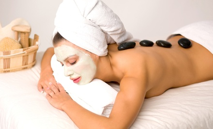 Hot Stone or Aromatherapy Massage, Facial with Microderm, or Both at Chandra Retreat (Up to 53% Off)