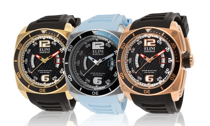Elini Barokas Men's Commander Watches: Elini Barokas Men's Commander Watches. Multiple Colors Available. Free Returns.