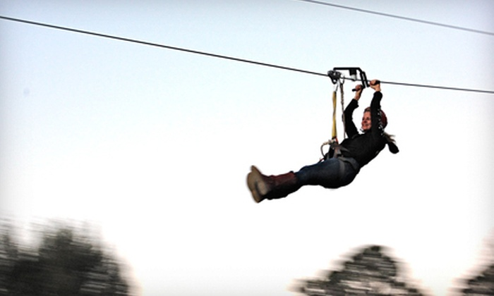 Fire Wire Zip Lines - Blue Ridge: Super-Zipline Ride for One or Two at Fire Wire Zip Lines (Up to Half Off)