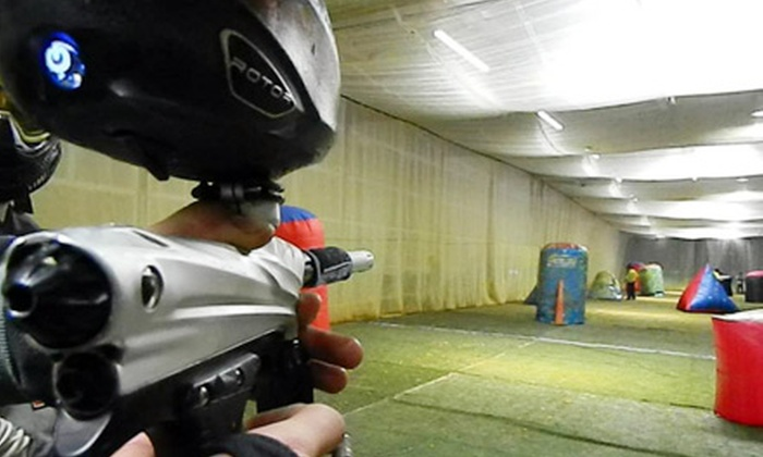 Reno Indoor Paintball - Reno: All-Day Paintball Play with Rental Gear and Paintballs for Two, Four, or Six at Reno Indoor Paintball (Half Off)