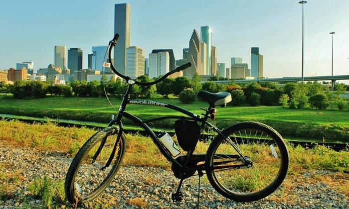 Bayou City Bike Tours - Washington Ave./ Memorial Park: Three-Hour Bayou City or Heights Culture Bike Tour for 6, 8, or 10 from Bayou City Bike Tours (Up to 55% Off)