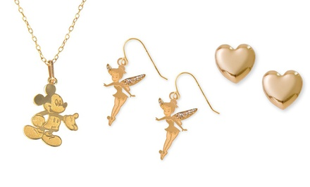Disney Jewelry in 10-Karat Gold. Multiple Styles Available from $16.99–$32.99.