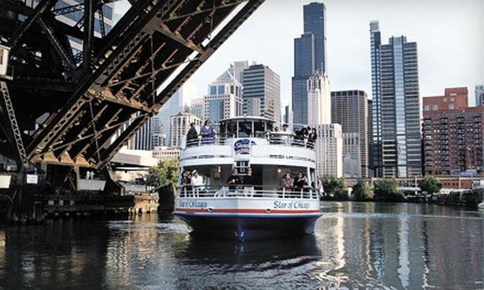 Shoreline Sightseeing - Multiple Locations: $18 for a 60-Minute Daytime or Nighttime Architecture Tour by Boat from Shoreline Sightseeing (Up to $32 Value)