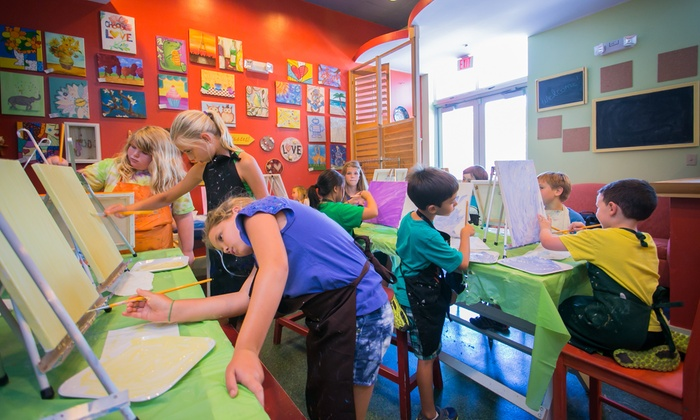 Go Van Gogh - Downtown at the Gardens: One Kid or Adult Art Class Session for One, Two, or Four at Go Van Gogh (Up to 50% Off)